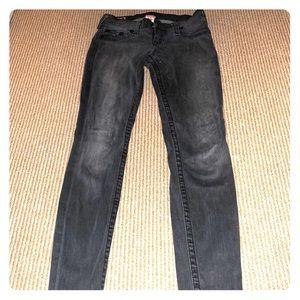 Women's size 26 grey True Religion jeans